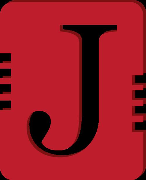 红色字母J书本矢量logo图标
