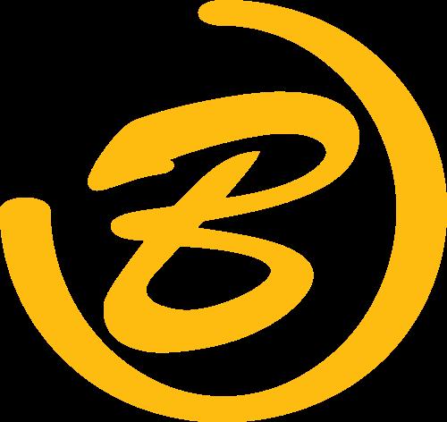 黄色字母b矢量logo图标矢量logo