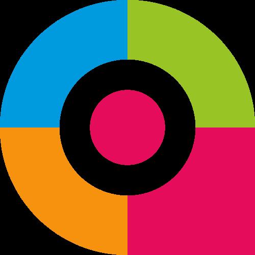 彩色字母A矢量logo图标