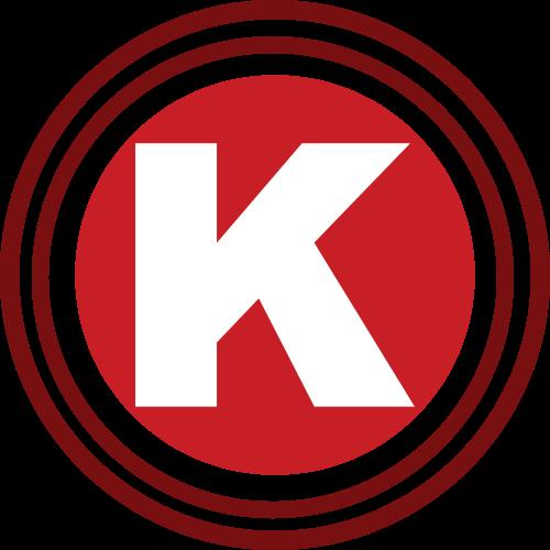 红色圆圈字母K矢量logo图标