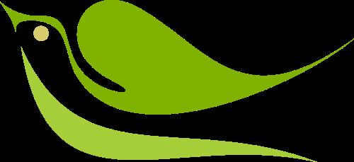 绿色鸽子矢量logo图标矢量logo