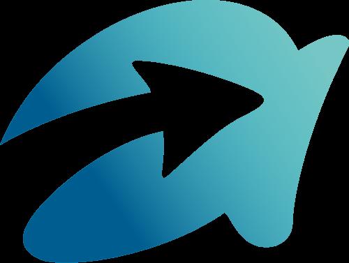 蓝色字母a箭头矢量logo图标