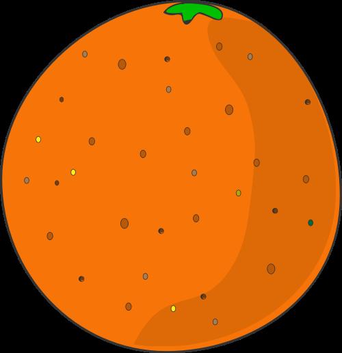 橙色橘子矢量logo图标