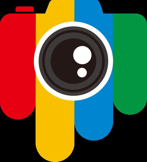 彩色相机矢量logo图标