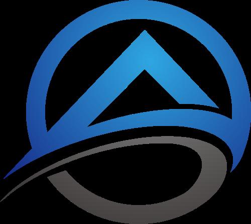蓝色黑色房子矢量logo图标矢量logo