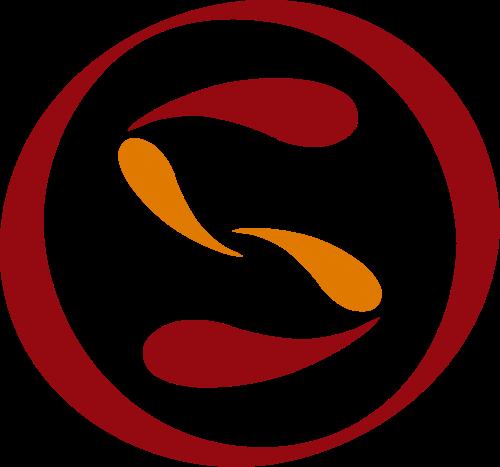 字母S圆形红色矢量logo图标