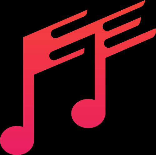 红色音符矢量logo图标矢量logo