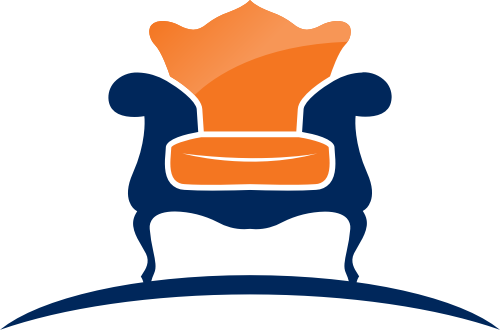 椅子橙色蓝色矢量logo图标矢量logo