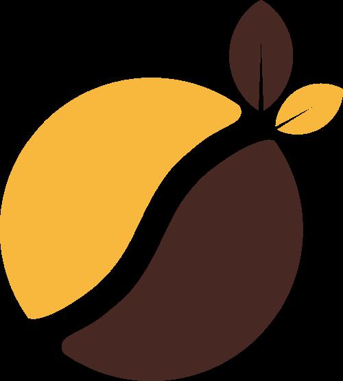 咖啡色圆形叶子矢量logo图标矢量logo