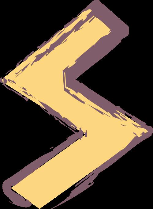 字母S闪电黄色矢量logo图标