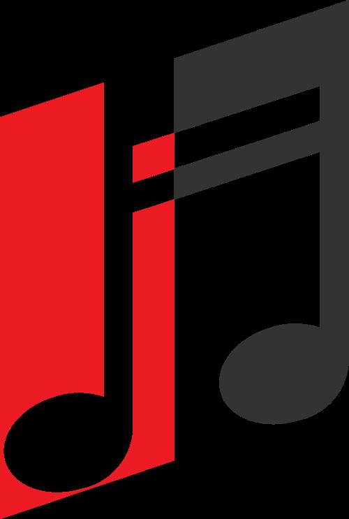 红黑音符矢量logo图标矢量logo