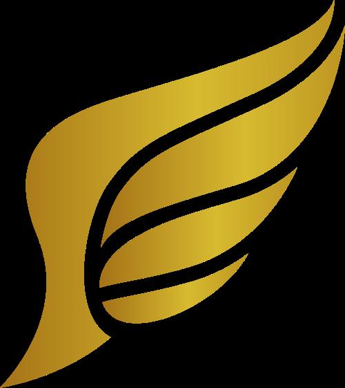 金色翅膀矢量logo图标矢量logo