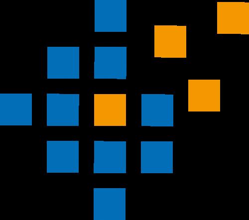 蓝色黄色方块矢量logo图标