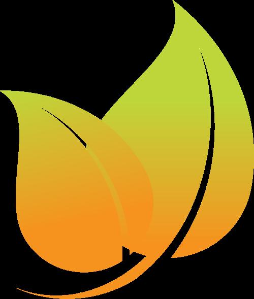 黄绿色叶子矢量logo图标