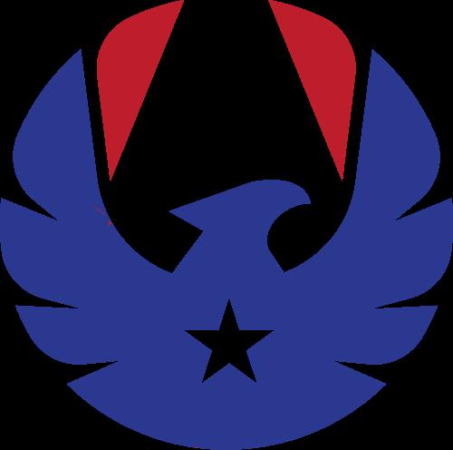 蓝色红色鹰星星矢量logo图标矢量logo