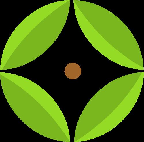 绿色叶子有机矢量logo图标
