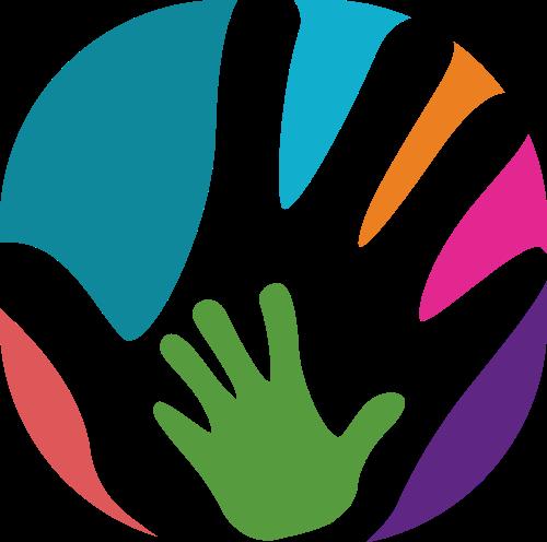 彩色手矢量logo图标
