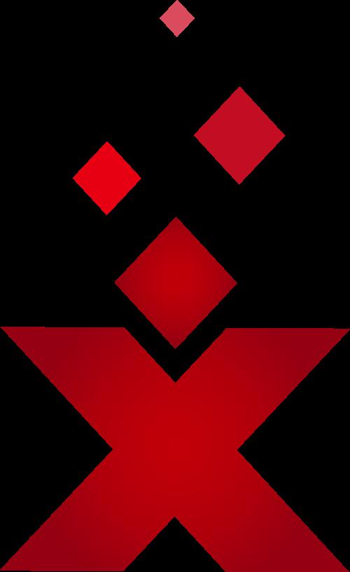 红色字母X矢量logo图标矢量logo
