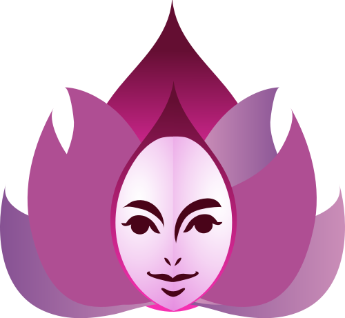 粉色人物火造型矢量logo图标