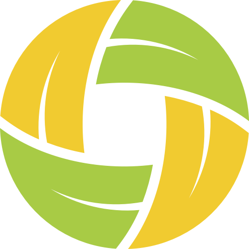 黄色绿色圆形叶子矢量logo图标
