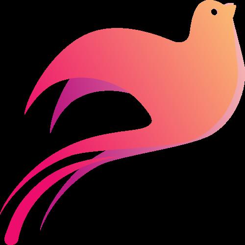 粉色小鸟矢量logo图标矢量logo