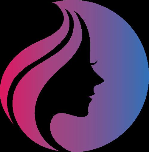 紫色女性矢量logo图标矢量logo
