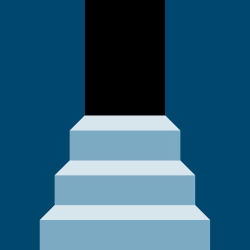 蓝色楼梯矢量logo图标矢量logo