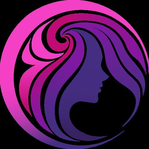 紫色女性渐变矢量logo图标矢量logo