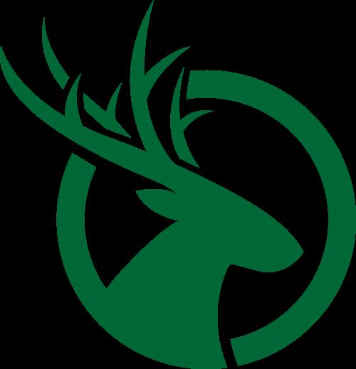 绿色鹿矢量logo图标矢量logo