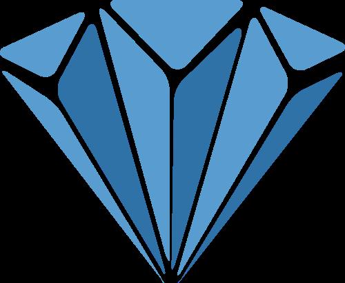 蓝色钻石矢量logo图标矢量logo