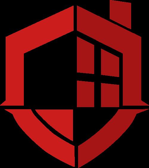 红色盾牌格子矢量logo图标矢量logo