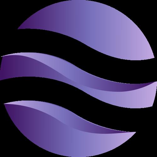 紫色球形波浪矢量logo图标矢量logo