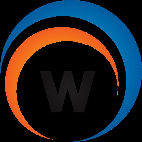蓝色橙色字母W矢量logo图标