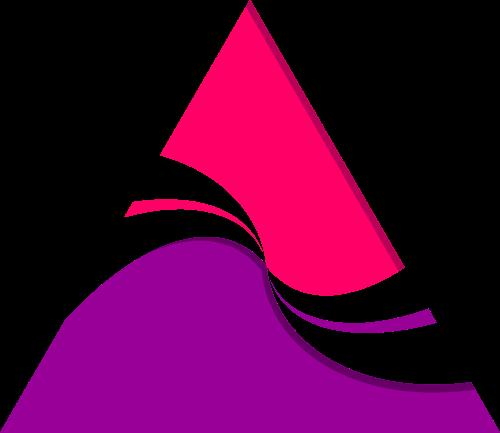 粉色紫色三角形矢量logo图标