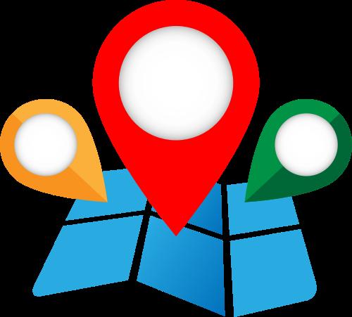 彩色地图标志矢量logo图标矢量logo