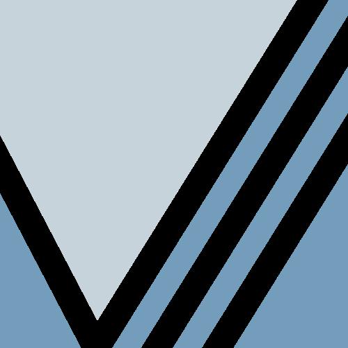 蓝色正方形条状矢量logo图标