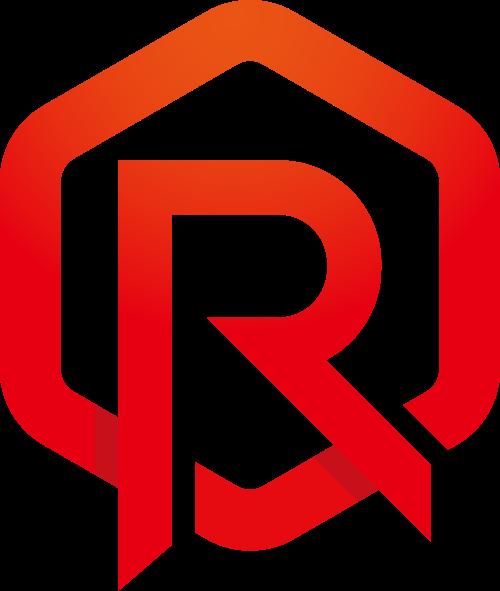 红色六边形字母R矢量logo图标矢量logo