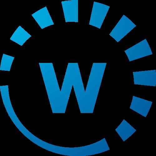 蓝色字母W矢量logo图标