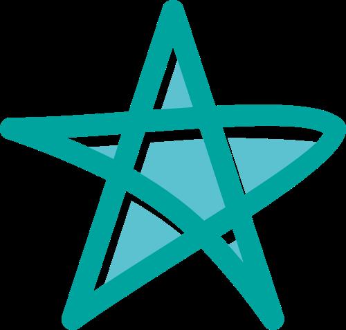 绿色五角星矢量logo图标