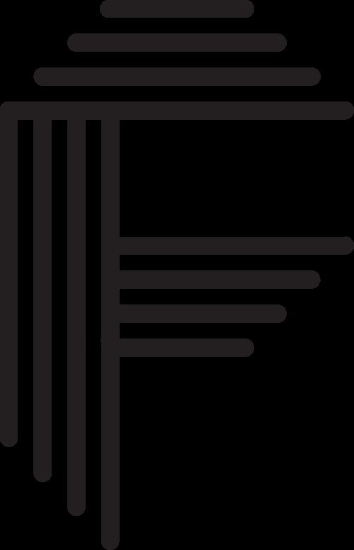 字母F矢量logo图标