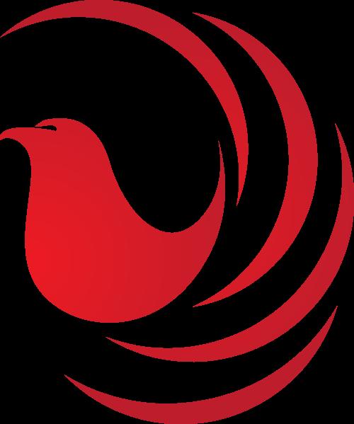 红色小鸟矢量logo同步矢量logo