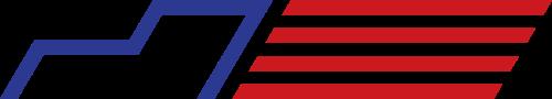 蓝色红色货车矢量logo图标
