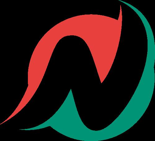 红色绿色字母N矢量logo图标