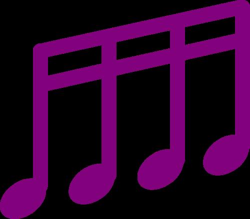 紫色音符矢量logo图标