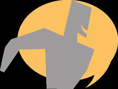 黄色灰色人物健身矢量logo图标