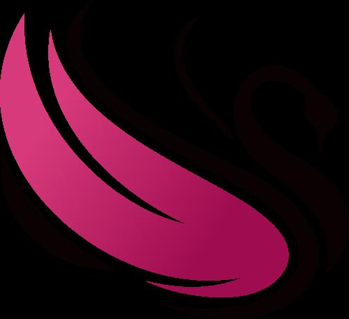 粉色天鹅矢量logo图标