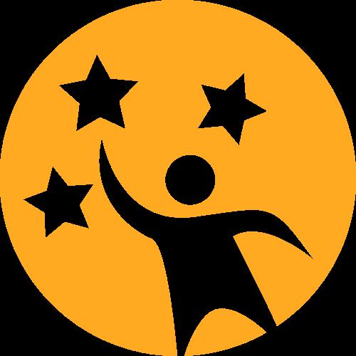 黄色人物矢量logo图标