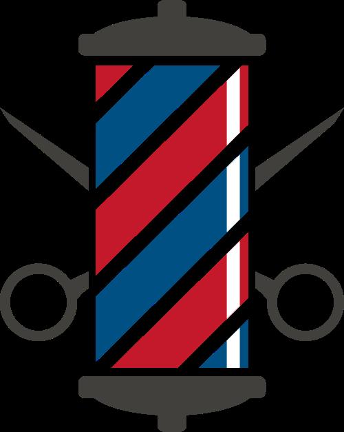 红蓝剪子理发店矢量logo图标矢量logo