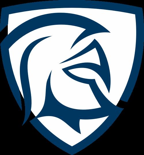 深蓝色盾牌勇士矢量logo图标矢量logo