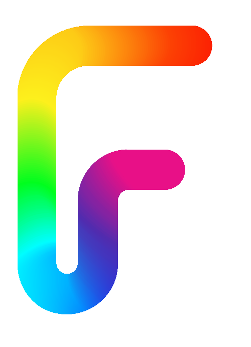 彩色字母F矢量logo图标
